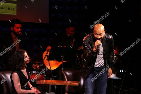 Stock Picture of Catie Lazarus, Keegan-Michael Key