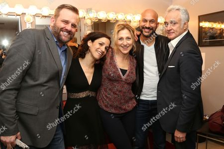 Stock Photo of Stephen Wallem, Catie Lazarus, Edie Falco, Keegan-Michael Key, Bradley Whitford