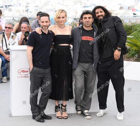 Denis Moschitto, Diane Kruger, Fatih Akın and Numan Acar