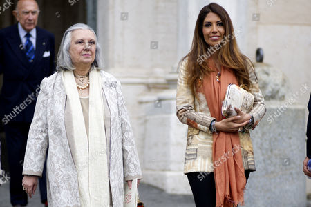 Laura Biagiotti and daughter Lavinia Biagiotti Cigna