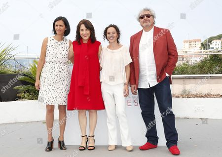 (L-R) Argentinian director Valeria Pivato, Chilean actress Paulina Garcia, Argentinian director Cecilia Atan and Argentinian actor Claudio Rissi pose during the photocall for 'La Novia del Desierto' (The Desert Bride) at the 70th annual Cannes Film Festival, in Cannes, France, 26 May 2017. The movie is presented in the section Un Certain Regard of the festival which runs from 17 to 28 May.