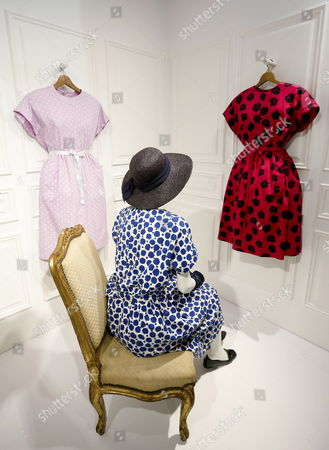 Creations by Balenciaga are on display during the presentation of the exhibition 'Collecting Elegance. Rachel L. Mellon's Legacy' at the Balenciaga Museum in Guetaria, Spain, 26 May 2017. The Rachel L. Mellon Collection show, under the direction of Hubert de Givenchy, presents creations by Spanish designer Cristobal Balenciaga (1895-1972) and runs from 27 May 2017 to 25 January 2018. Rachel Lambert Mellon (1910?2014), known as Bunny, was an American heiress, philanthropist, art collector and a personal friend of Balenciaga.