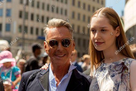Stock Image of Wolfgang Joop and Ivana Teklic