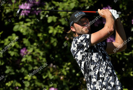 Johan Carlsson of Sweden on the 7th tee.