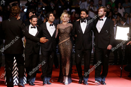 Ulrich Brandhoff, Numan Acar, Fatih Akin, Diane Kruger, Denis Moschitto, Samia Chancrin Actors Ulrich Brandhoff, from right, Numan Acar, director Fatih Akin, actors Diane Kruger, Denis Moschitto and Samia Chancrin pose for photographers upon arrival at the screening of the film In The Fade at the 70th international film festival, Cannes, southern France