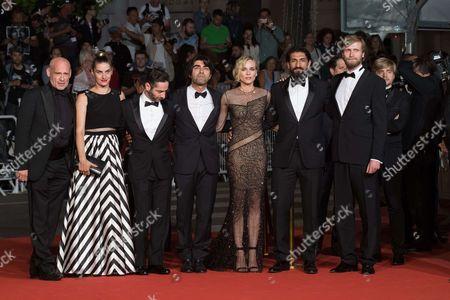 Samia Muriel Chancrin, Denis Moschitto, director Fatih Akin, Diane Kruger, Numan Acar and Ulrich Brandhoff