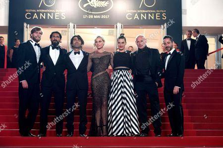 Ulrich Brandhoff, Numan Acar, director Fatih Akin, Diane Kruger, Denis Moschitto, Samia Muriel Chancrin and Johannes Krisch