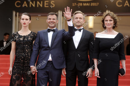 Stock Image of Myriam Boyer, French minister of Culture Francoise Nyssen, Marine Vacth, Francois Ozon, Jeremie Renier and Jacqueline Bisset