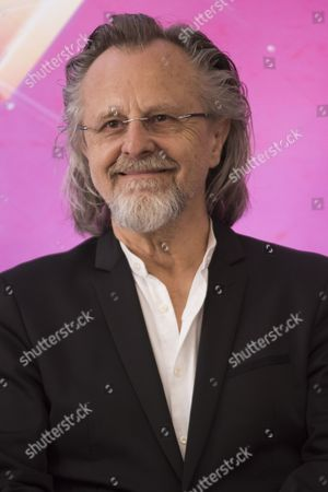 Stock Picture of Jan A. P. Kaczmarek (R), an Oscar-Winning Polish composer attends a press conference on the first day of the 10th edition of Krakow Film Music Festival in Krakow, Poland
