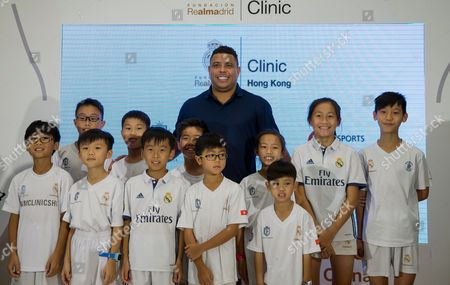 Editorial picture of Ronaldo Nazario on promotion tour in Hong Kong, China - 27 May 2017