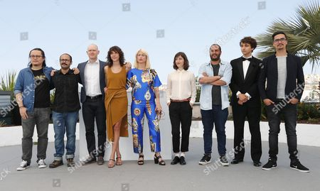 Short film Directors in competition pose  during a Photocall during the 70th annual Cannes Film Festival, in Cannes, France, 27 May 2017. Pictured are: Fiona Godivier, Lucrece Andreae, Julia Thelin, Teppo Airaksinen, Andres Ramirez Pulido, Qju Yang, Molda Grzegorz, Alireza Ghasemi and Madhi Fleifel