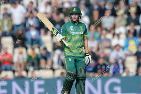 David Millar of South Africa reached his half century during the Royal London ODI match between England and South Africa at the Ageas Bowl, Southampton