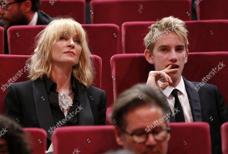 US actress Uma Thurman (L) and her son Levon Roan Thurman-Hawke  attends the Uncertain Regard Awards Ceremony of the 70th Cannes Film Festival, in Cannes, France, 27 May 2017.