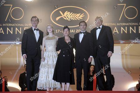 Alex Manette, Ekaterina Samsonov, director Lynne Ramsay, Joaquin Phoenix and John Doman