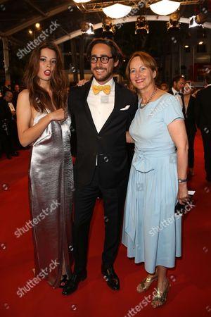 Emilie Broussouloux, Thomas Hollande and Segolene Royal