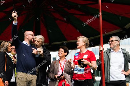 Stock Photo of Charles Michel, Princess Astrid, Yvan Mayeur