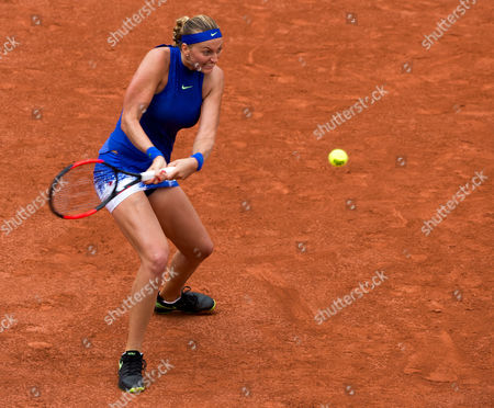 Petra Kvitova (CZE) (14) plays her first match since her injury to her hand in December. Kvitova won her match against Julia Boserup (USA). French Open Tennis Championships, Roland Garros, Paris, France 28th May 2017.