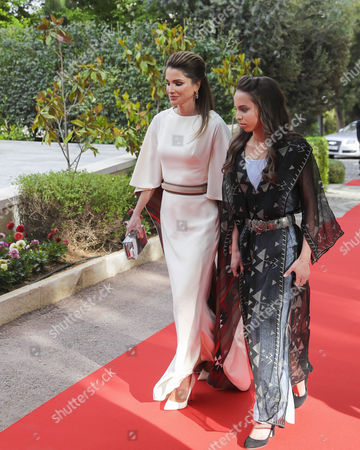 Queen Rania and Princess Lalla Salma at this year's celebration of the 71st Anniversary of Jordan's Independence Day