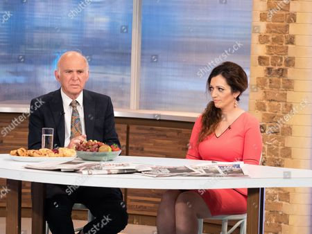 Stock Photo of Vince Cable and Tasmina Ahmed-Sheikh