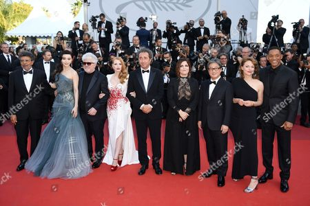 Gabriel Yared, Fan Bingbing, Pedro Almodovar, Jessica Chastain, Paolo Sorrentino, Maren Ade, Park Chan-Wook, Agnes Jaoui and Will Smith