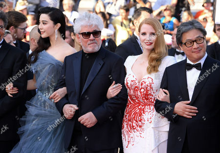 Fan Bingbing, Pedro Almodovar, Jessica Chastain and Park Chan-Wook