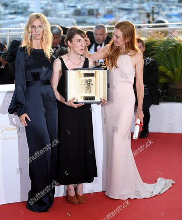 Stock Image of Sandrine Kiberlain, Leonor Serraille - Camera D'Or - Montparnasse Bienvenue and Laetitia Dosch