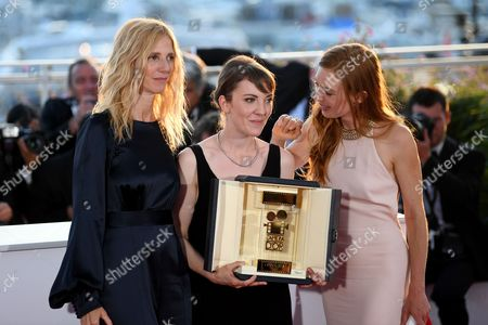 Stock Photo of Sandrine Kiberlain, Leonor Serraille - Camera D'Or - Montparnasse Bienvenue and Laetitia Dosch