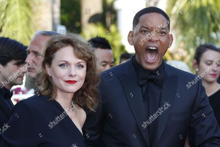 Jury members, Maren Ade and  Will Smith arrive for the Closing Awards Ceremony of the 70th annual Cannes Film Festival, in Cannes, France, 28 May 2017. The Golden Palm winning movie will be screened after the closing ceremony.
