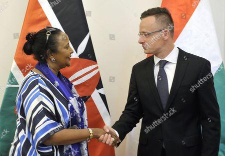 Peter Szijjarto and Amina Mohamed