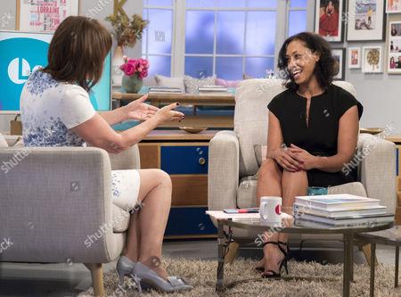 Lorraine Kelly and Amanda Foster