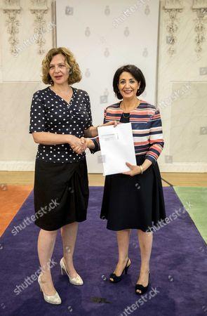 Stock Picture of Edith Schippers and Khadija Arib