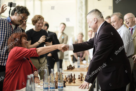 Anatoly Karpov and Katrin Werner