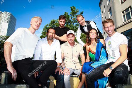Mario Galla, Ulf Kirsten, Maurice Gajda, Pietro Lombardi, Oliver Pocher, Lilly Becker and Raul Richter