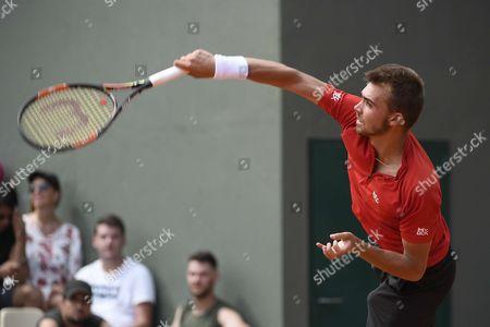 Benjamin Bonzi during his match against Daniil Medvedev