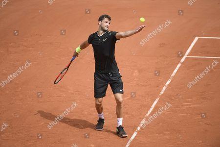 Grigor Dimitrov during his match against Stephane Robert