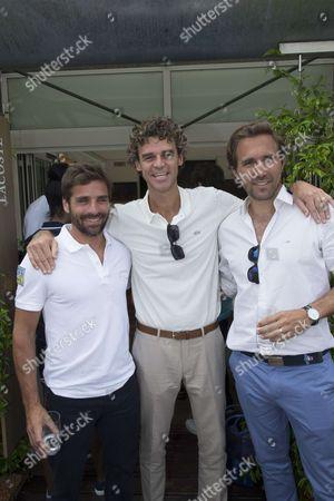 Arnaud Clement, Gustavo Kuerten, and Arnaud Di Pasquale
