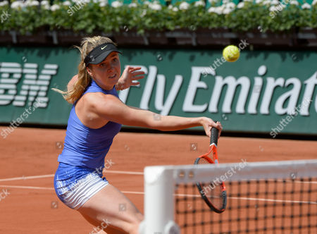 Elina Svitolina (UKR) (5) in action during her first round match against Yaroslava Shvedova (KAZ).  French Open Tennis Championships, Roland Garros, Paris, France 30th May 2017.