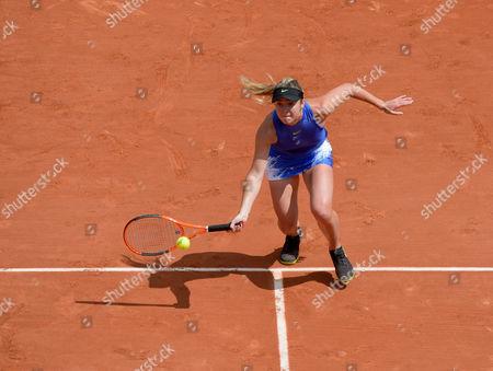 Elina Svitolina (UKR) (5) in action during her first round match against Yaroslava Shvedova (KAZ)).  French Open Tennis Championships, Roland Garros, Paris, France 30th May 2017.