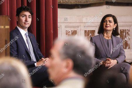 Justin Trudeau and Lura Boldrini