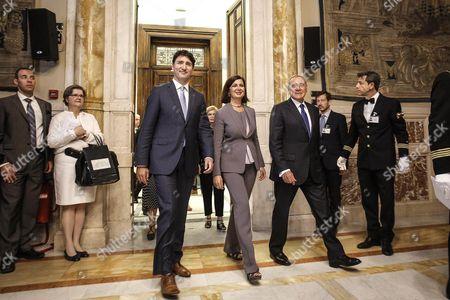 Justin Trudeau, Lura Boldrini and Pietro Grasso
