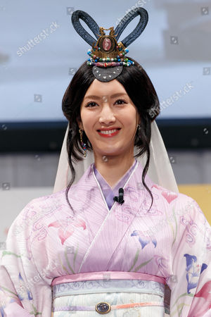 Nanao wearing traditional Japanese kimono