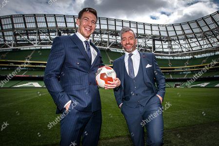 Benetti football ambassadors Sean St. Ledger and Stephen Hunt