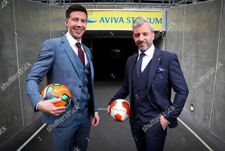 Stock Picture of Benetti football ambassadors Sean St. Ledger and Stephen Hunt