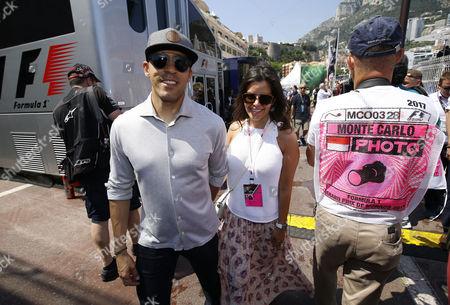 Pastor Maldonado with his wife Gabriela