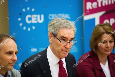 Stock Photo of Michael Ignatieff and Zsolt Enyedi