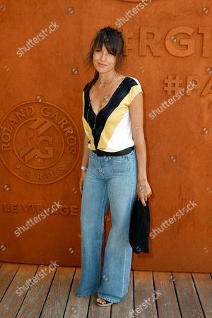Stock Picture of Caroline Nielsen arrives at the Village of Roland Garros