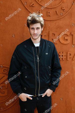 Jean-Baptiste Maunier arrives at the Village of Roland Garros
