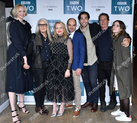 Stock Image of Gwendoline Christie, Jane Campion, Elisabeth Moss, David Dencik, Ariel Kleiman, Gerard Lee. Alice Englert