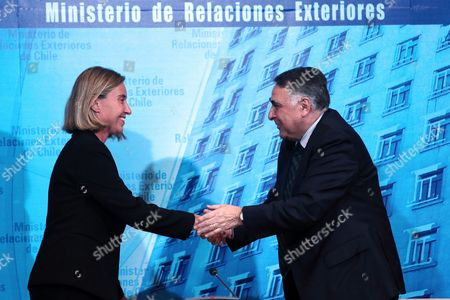 Editorial image of High Representative of the European Union for Foreign Affairs and Security Policy visits Chile, Santiago - 30 May 2017