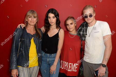Stock Image of Deborah Leng, Gala Gordon, Tigerlily Taylor and Rufus Taylor